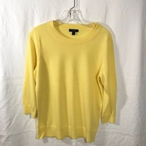 JCrew Tippie Sweater in yellow